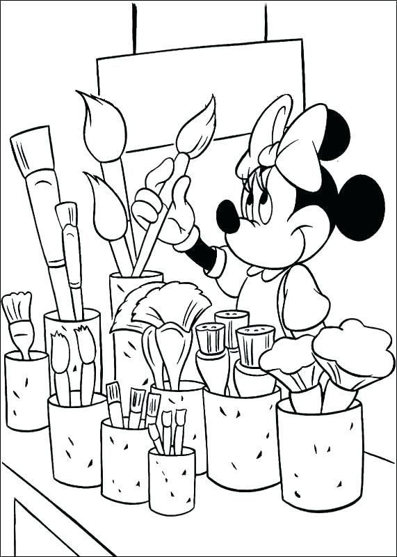 Paint Brush Coloring Page Paint Brush Colouring Pages Printable