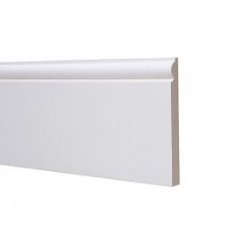 18mm x 169mm x 4.4m Torus Skirting MDF White Primed - White Primed MDF - MDF Sections - Timber & Sheet Materials