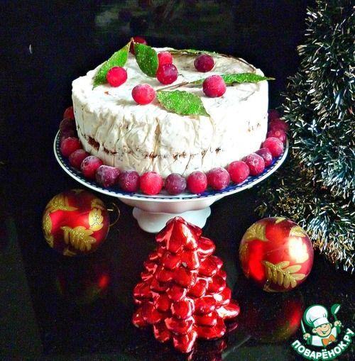 Замороженный рождественский торт без выпечки - кулинарный рецепт