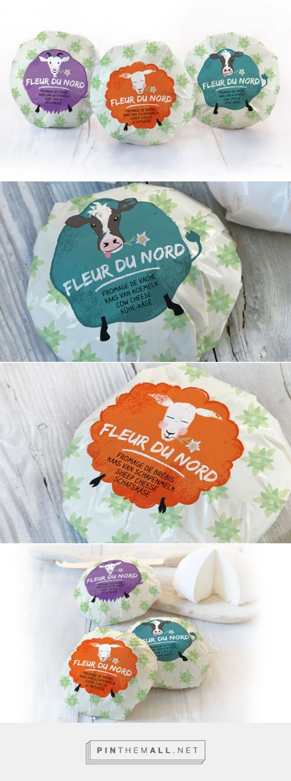Fleur du Nord | Quatremains Damse Kaasmakerij curated by Packaging Diva PD.  A range of 3 authentic and artisan cheeses, each with different origin and the cutest packaging : )