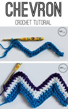 Easy Step by Step Pattern on how to do the Chevron Stitch in Crochet - Chevron Crochet Tutorial from Rescued Paw Designs