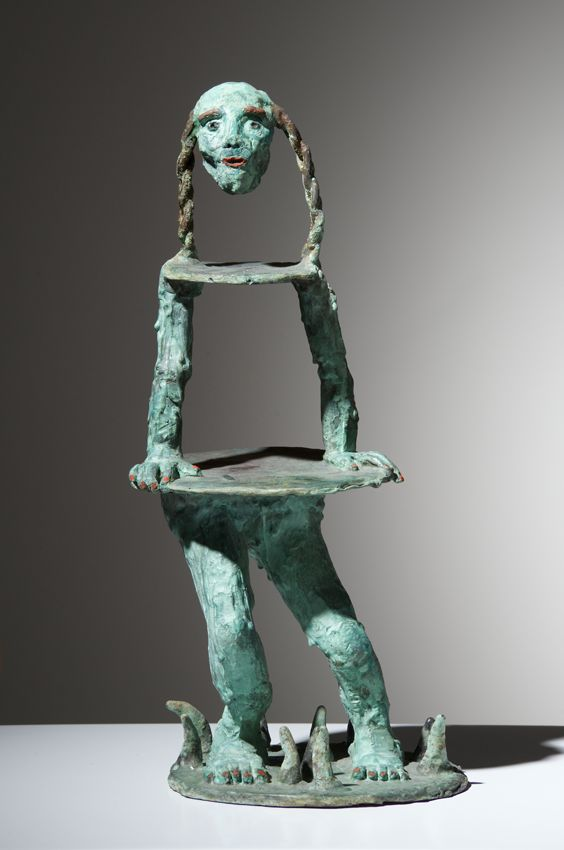 Marlene Steyn, 'Head-and Ponytails' (2014-2015), Patinated Bronze, 31 x 13 x 13cm