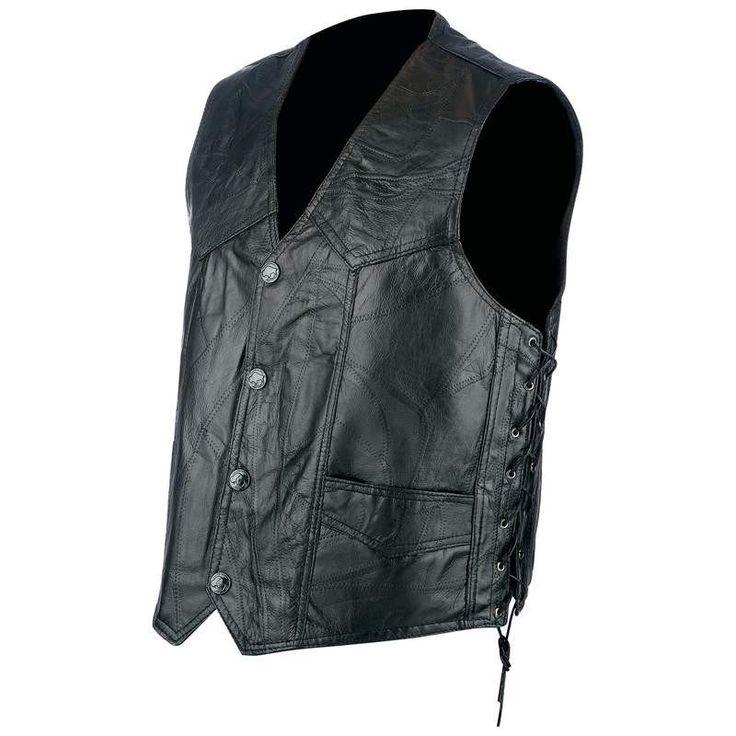 Hog Leather Biker Vest – Barsa Store