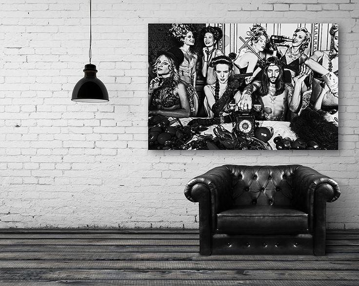 17 beste idee n over slaapkamer muur foto 39 s op pinterest poster muur ijzeren muur decor en - Foto van slaapkamer schilderij ...