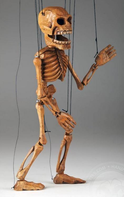 Smiling Skeleton Marionette