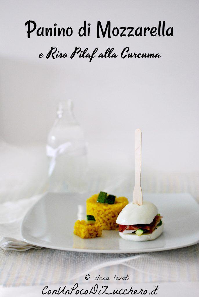 piatto unico: panino di mozzarella e riso pilaf
