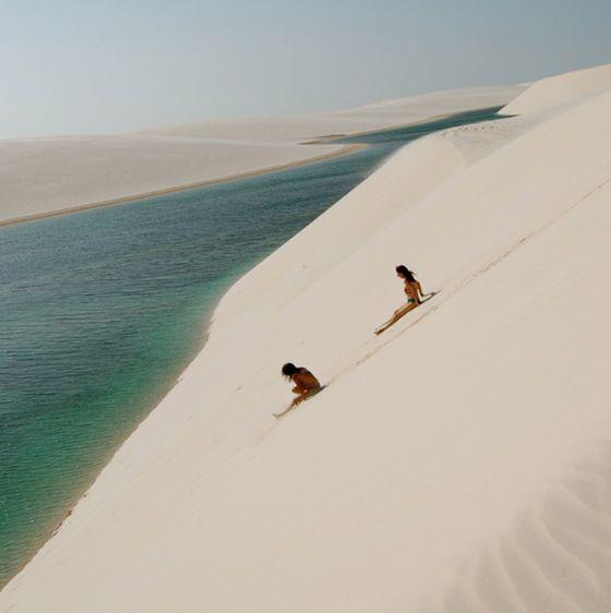 De duinen van Lencois, Brazilië