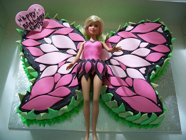 Barbie Mariposa Cake  by Andrea's SweetCakes, via Flickr