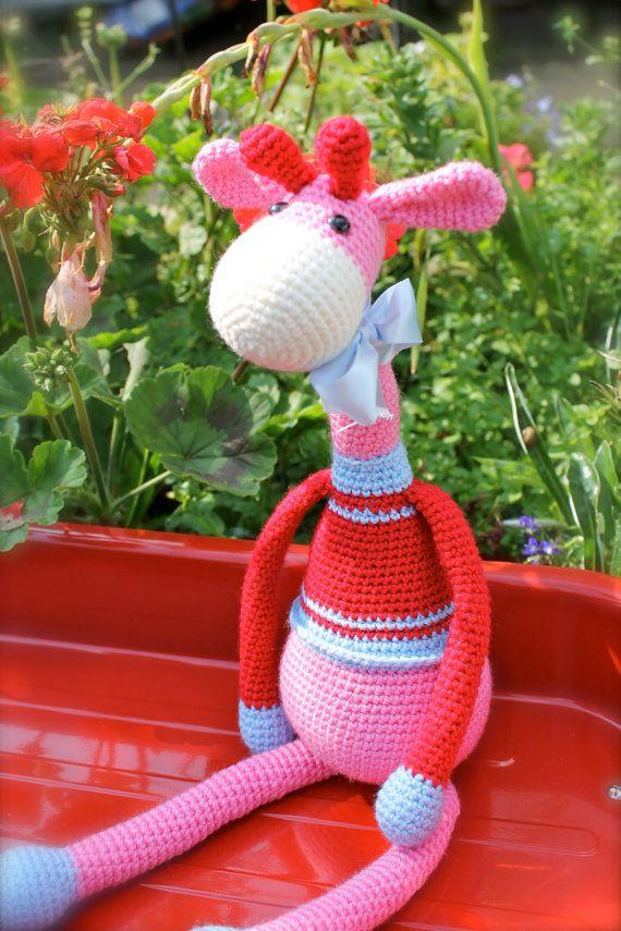 Norris the Giraffe Crochet Amigurumi Animal. by FuzzpotLaneDesigns