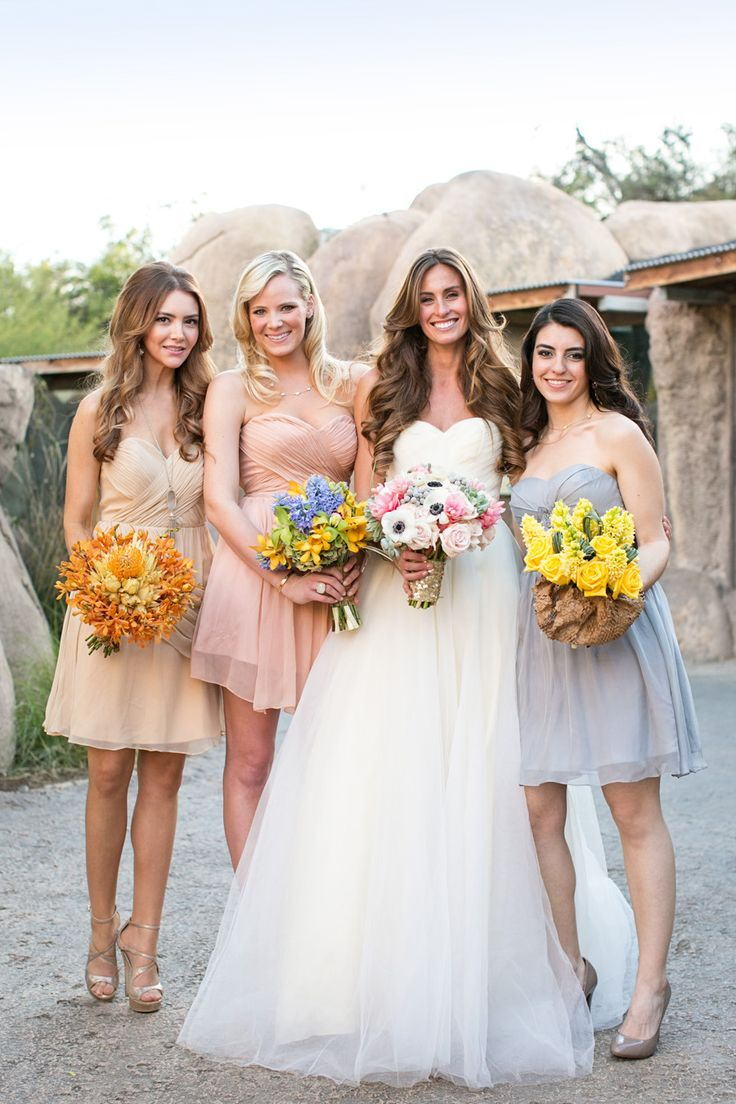 128 best mismatched bridesmaid dresses wedding trend images on pretty mismatched look ombrellifo Choice Image