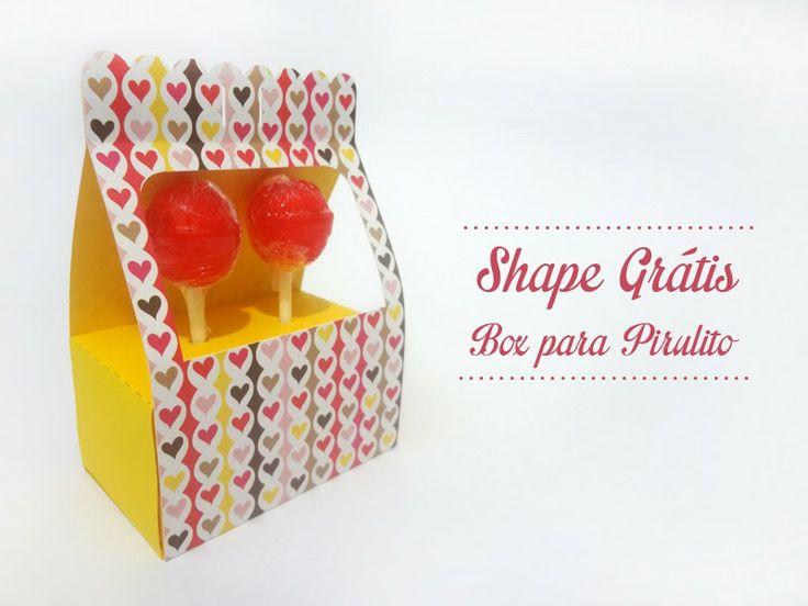 Diário de uma Silhouette: Pirulito Box com shape Grátis