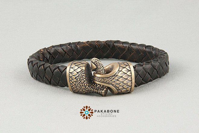 Viking Bracelet with Dragon Claw  - Leather Wristband  with Claw of Jormungandr art. 001-016 by PAKABONE on Etsy https://www.etsy.com/listing/504272510/viking-bracelet-with-dragon-claw-leather