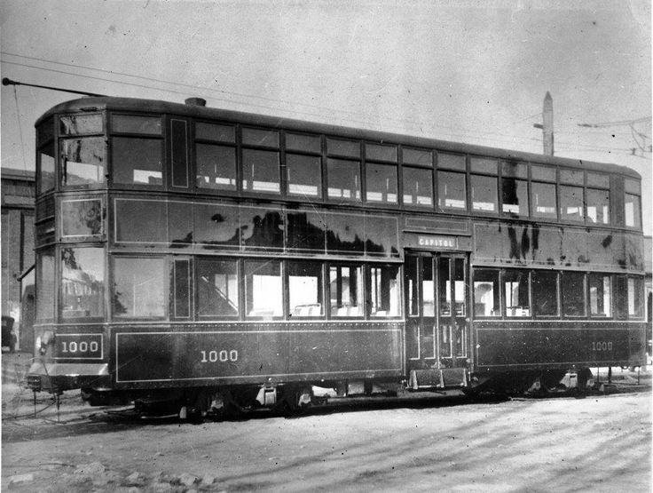 WRECo operated one double-deck steel streetcar in Washington from From 1913 to 1917. It was built by the Southern Car Co in High Point, NC. A year earlier they had provided ten conventional center-door cars (#651-660). At first WRECo called it #1000. When the upper deck was removed in 1917 it became #661. After the CTCo merger it became #895. In 1939 it became scrap (Jonathan Orovitz).