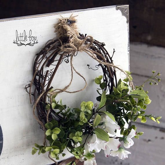 Farmhouse Decor Simply Blessed Wreath Sign Description: (White with Grey Font Shown) Background and font are hand-painted Simply Blessed Wreath Sign, 2 sizes and 5 colors available by using the drop-down box. Large 40x11: $84 Small 25x7.5: $49 You wont be disappointed, this is such a