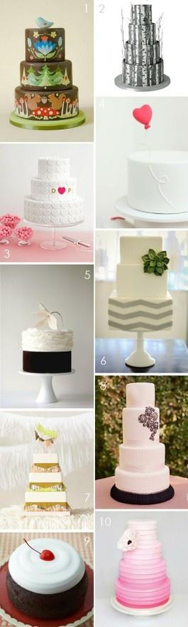Modern Wedding Cakes tganchorre