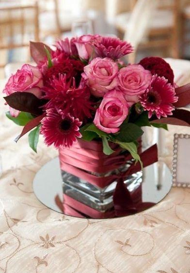 Best pink centerpieces ideas on pinterest
