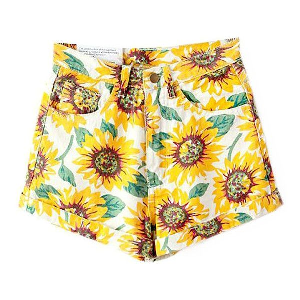 Sunflower Shorts ($37) ❤ liked on Polyvore featuring shorts and sunflower shorts