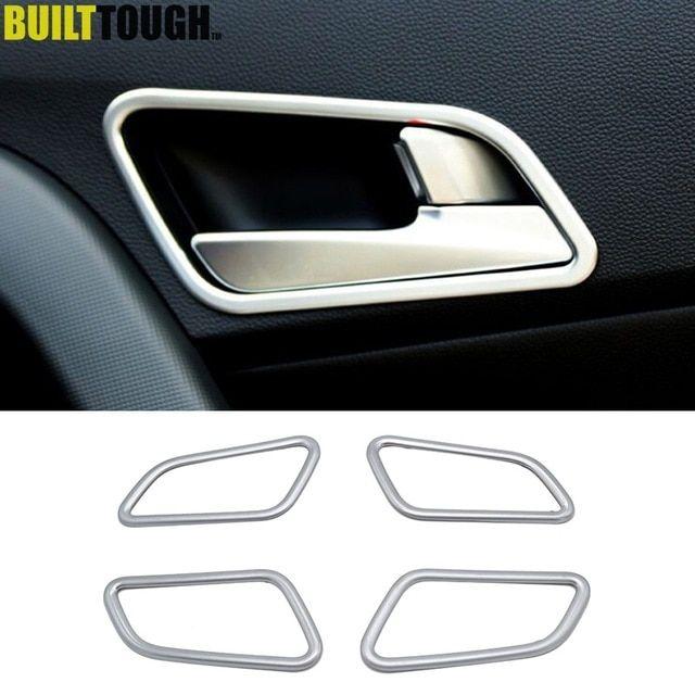 ABS Matte Interior Inner Car Door Handle Bowl For Hyundai Kona 2017-2018