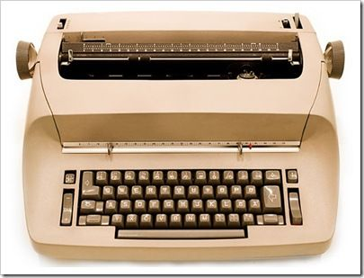 Learned to type on an electric typewriter.