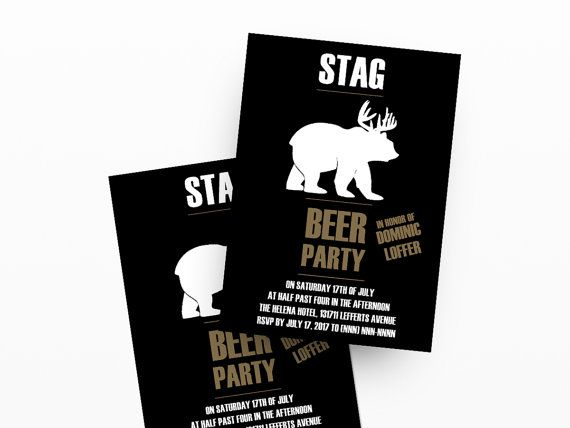 Stag Invitations | Digital Printable Invitation Template for your Stag Party, Stag Night Party, Bachelor Party