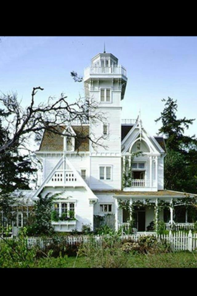 Practical Magic House. When I was little and first saw this movie, I dreamt that I would live in this house. With it's large garden filled with flowers, vegetables, herbs, etc, sitting on a cliff over looking the ocean. It became my dream house. To this day, I kind of still imagine I will live in a home exactly like this.