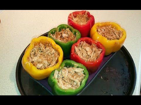 Chicken Fajita Stuffed Peppers - low-carb, Dr Poon, Paleo & Primal
