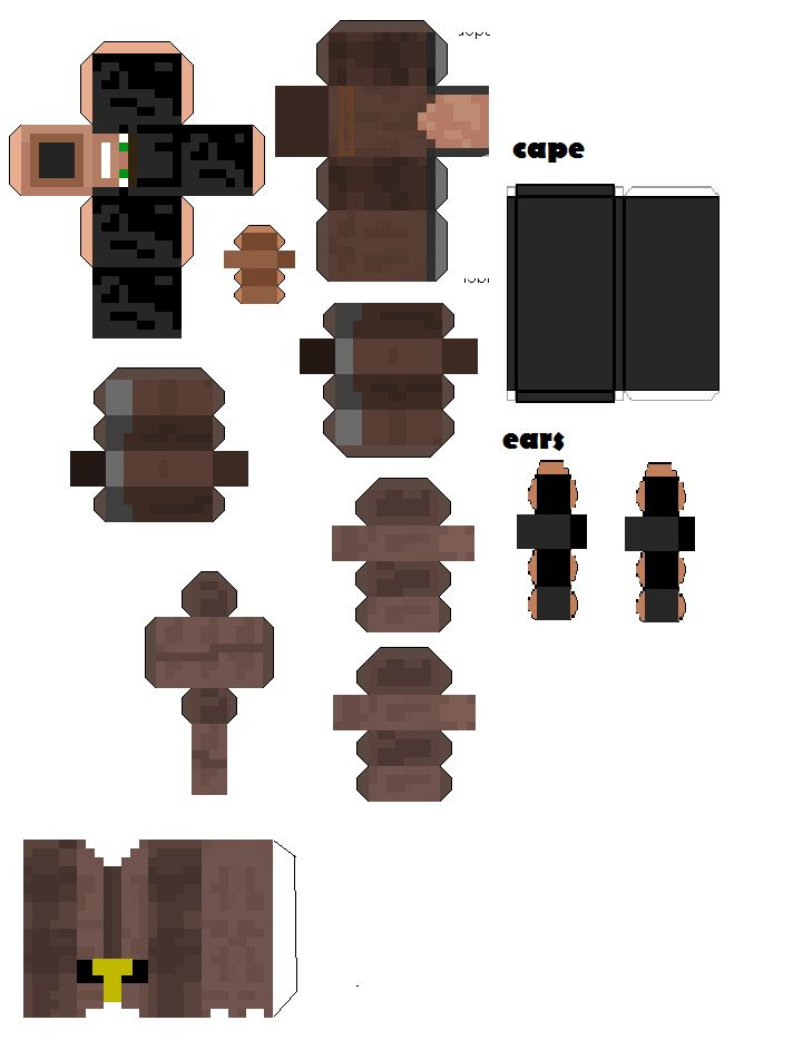 how to make a minecraft man with paper