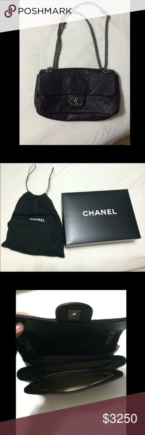 Chanel Winter Collection 2013 100% authentic, purchased at the Domain in Austin, Niemen Marcus...it's too small for me, I've literally never worn it. It's been sitting in its dust bag& box. Time to just get rid of it. Ask questions if you have any. Box, authenticity card & dust bag all included. 10X6 can also be used as a cross body. CHANEL Bags Shoulder Bags