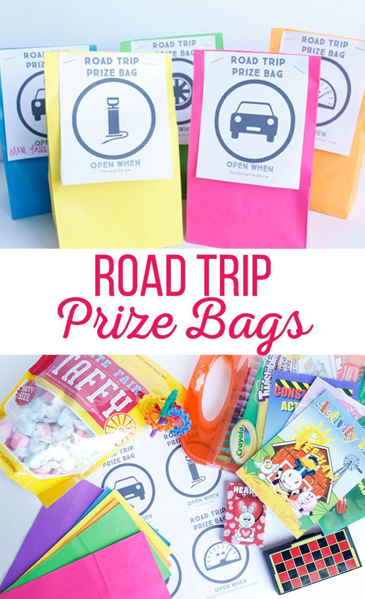 "If you're planning a family road trip, chances are you will need these Road Trip Prize Bags. These kid friendly bags provide entertainment that is sure to give you a break from hearing, ""Are we there yet?"" over and over again."