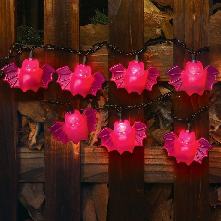 Halloween Electric Lights 10Ul Halloween Bat in Pink for Indoor Outdoor Decor  #WalmartHalloween