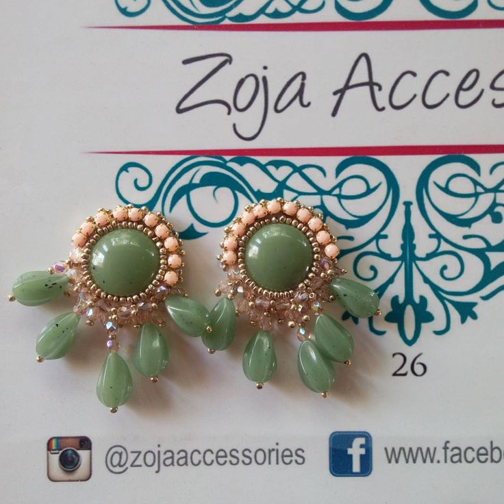 Buenas y Bendecida tarde!  Siguenos en #instgram #follow Disponibles!  @zojaaccessories @zojaaccessories  @zojaaccessories #new #zojaearrings #handmadeaccesories #jewelry #fashion #instablogger #instafashion #inspiration #green #women #musthave  #aretes #nuevos #glamour #zojaccessories