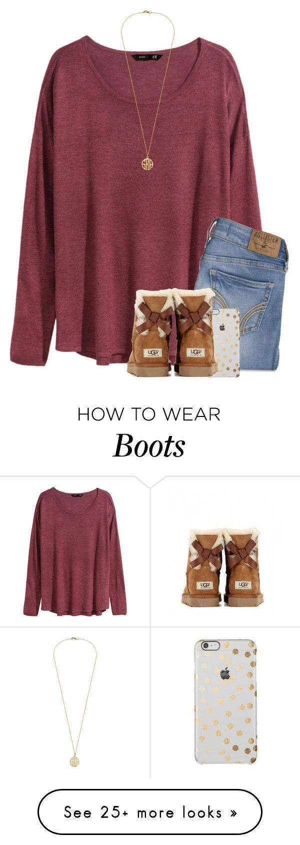 """""""Ugg boots make every outfit better❤️"""" by savanahe on Polyvore featuring H&M, Hollister Co., UGG Australia, women's clothing, women's fashion, women, female, woman, misses and juniors"""