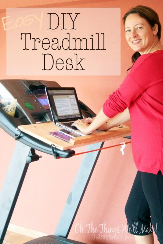 Learn how to make a removable, DIY treadmill desk in just a matter of minutes.   I wasn't sure I'd be coordinated enough to use it, but I LOVE it!