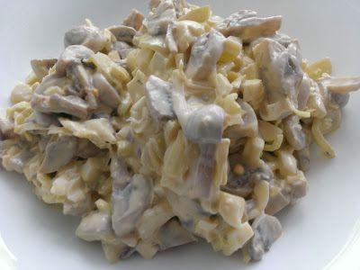 Kuchcik gotuje: Sałatka pieczarkowa z porem