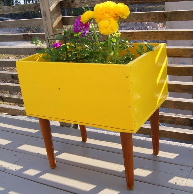 retro blomsterkasse