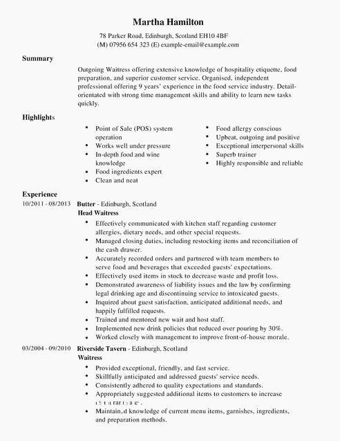 sample of resume highlights