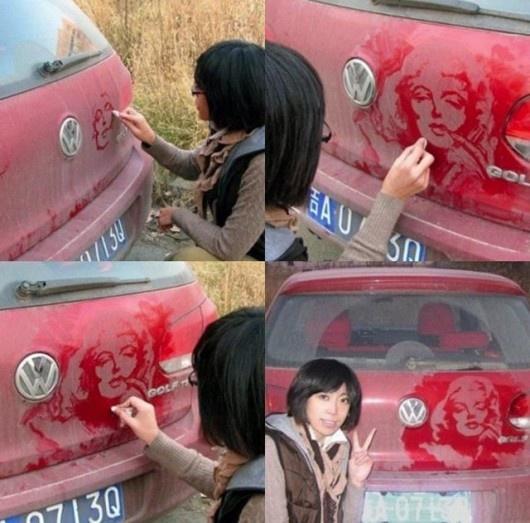dirty car level: asian