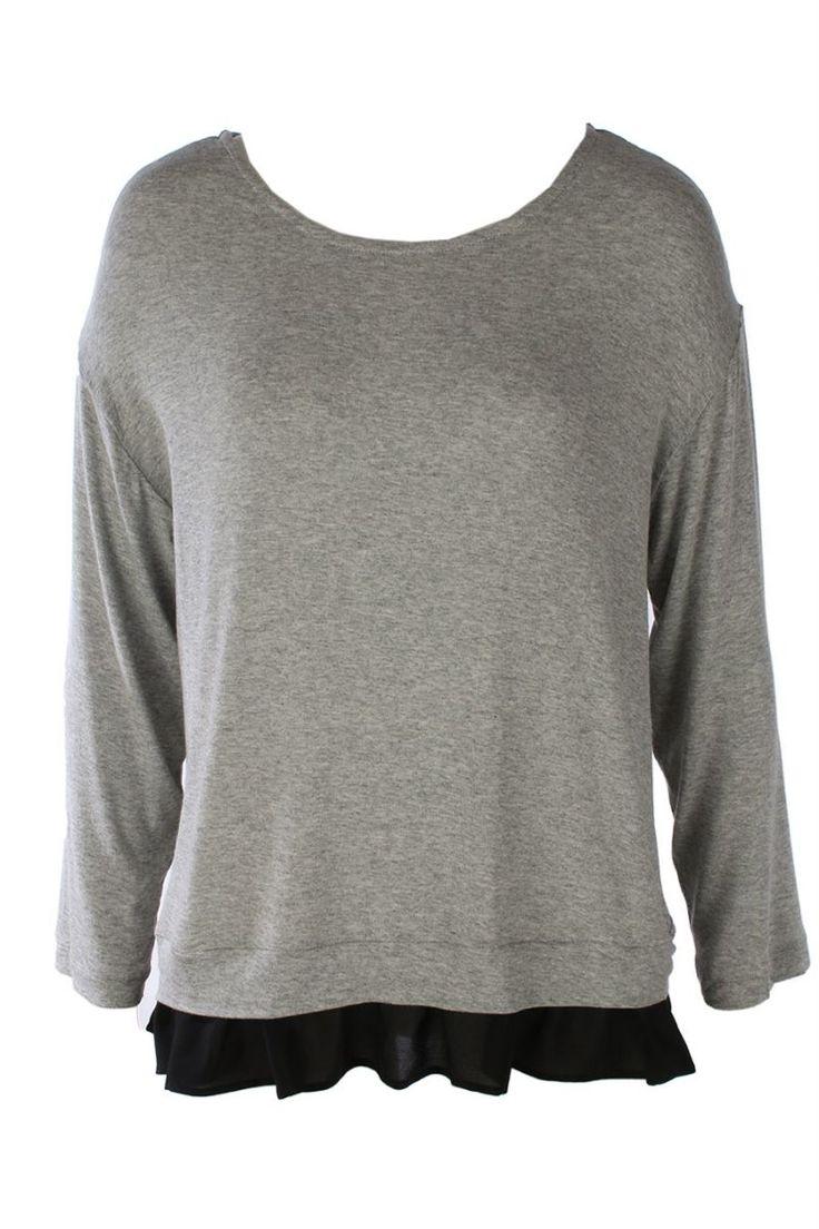 Long Sleeved - Chant IN Grey/Black - Maud Dainty
