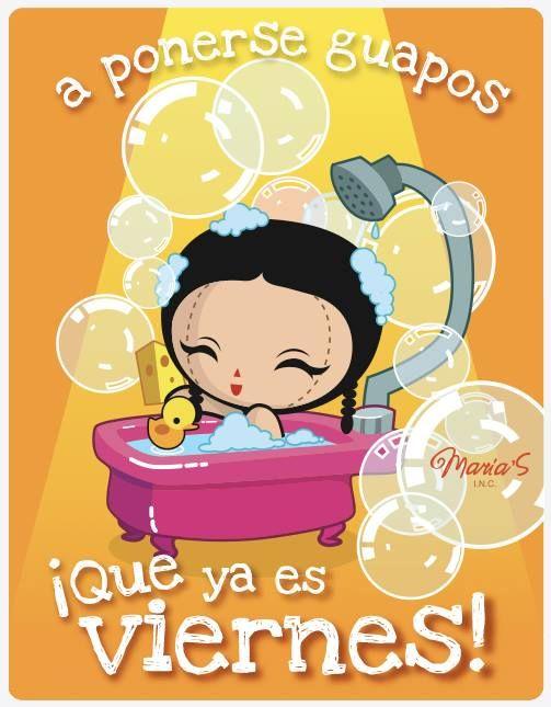 Ilustración: ¡A ponerse guapos que ya es viernes! Diseño Mexicano, María's INC. #Maria
