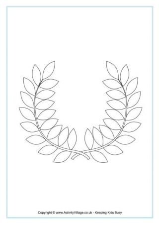 Olympic Wreath Colouring Page