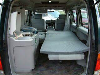 A sweet Honda Element camper set up!