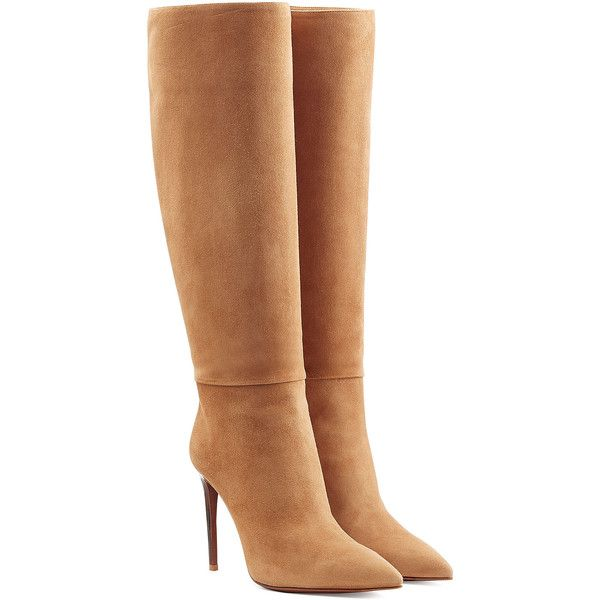 Ralph Lauren Collection Suede Knee Boots found on Polyvore