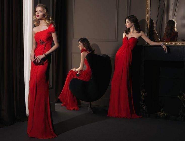 Red Glam Wedding Dresses