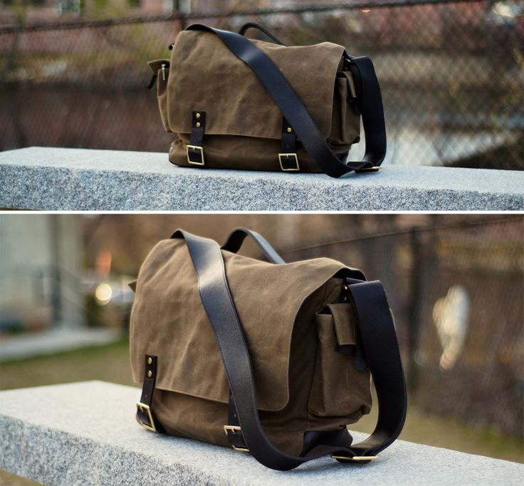 Ernest Alexander Waxed Canvas Messenger
