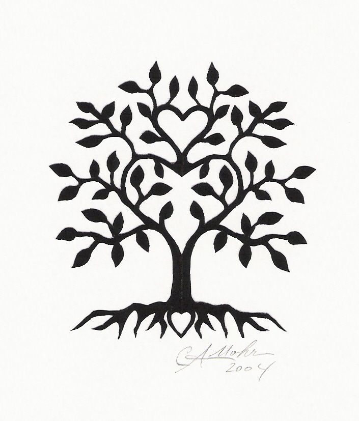Tree Tattoo. Heart for each sister