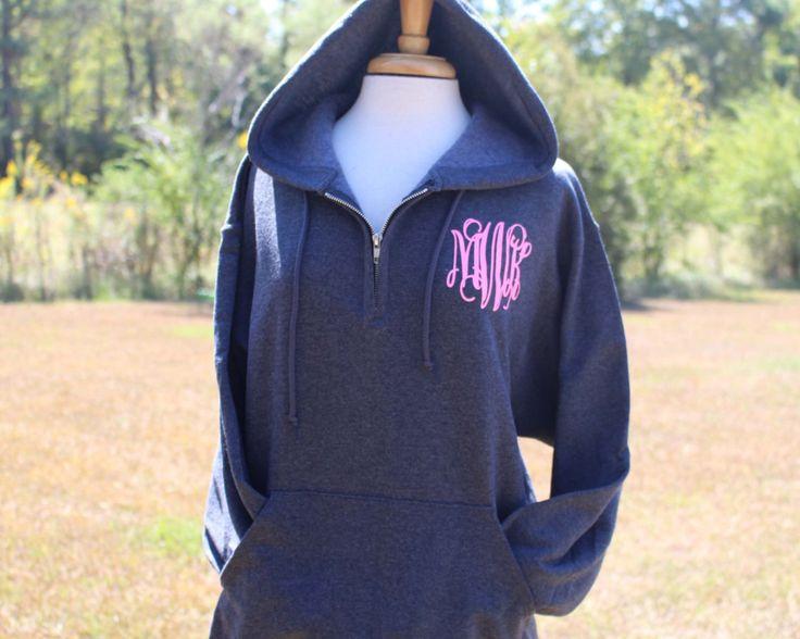 1/4 Zip Hooded Pullover, Monogrammed Big Little Shirt, Sorority Shirt, Quarter Zip Hoodie, Personalized Sweatshirt, Monogram Sweater by PersonalizedGiftsbyJ on Etsy https://www.etsy.com/listing/233461033/14-zip-hooded-pullover-monogrammed-big