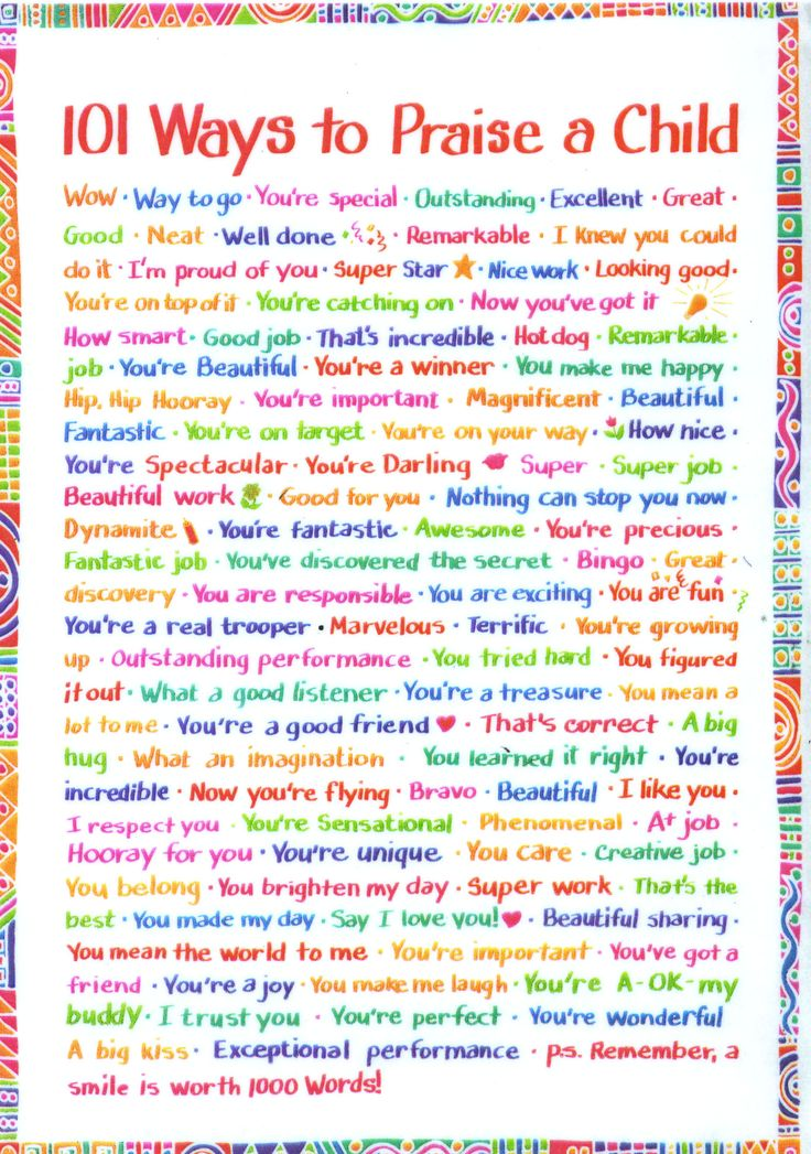 101 Ways to Praise a Child--I love this. My mom still has