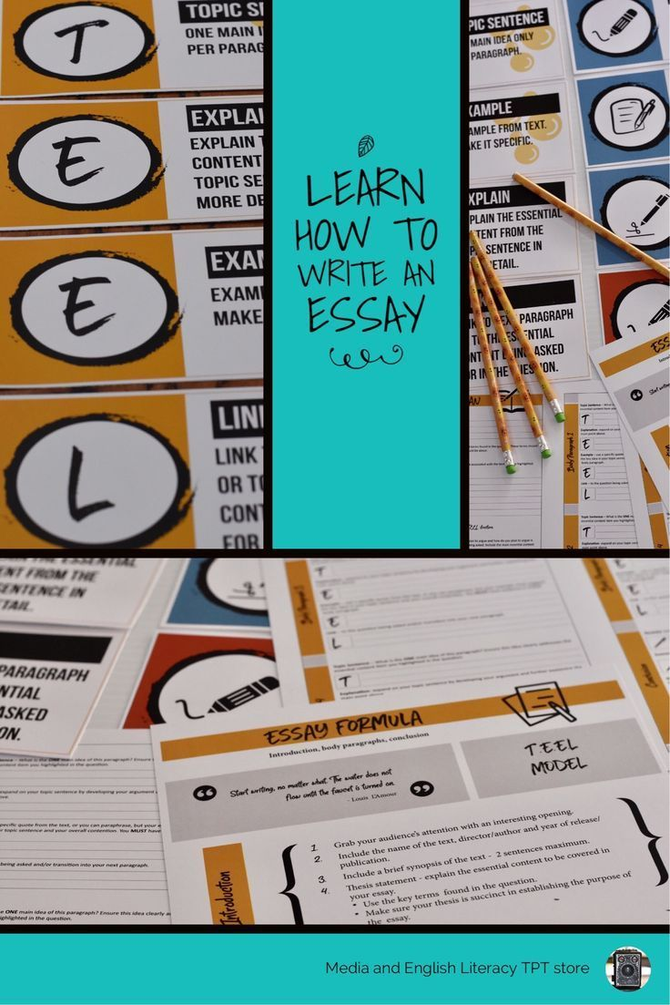 Help your students to master essay writing structure by providing them with these foolproof essay plan templates and back this up by placing the handy posters on your classroom wall. These are a clever way to constantly reinforce the formula for writing a clear, well-structured essay. #essaywriting #essaystructure #highschoolenglish