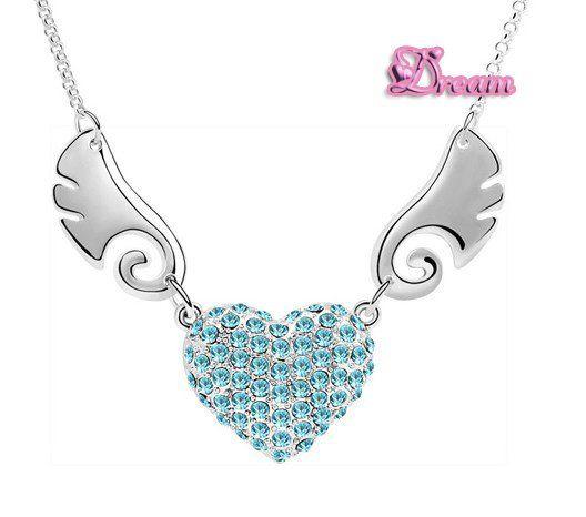 Spedizione gratuita sacchetto del regalo,ingrosso classica cristallo collana pendente cuore abito da sposa/partito regalo/monili di cristallo set, no. 5909q