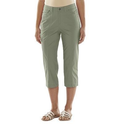 Croft & Barrow® Twill Utility Capris - Women's
